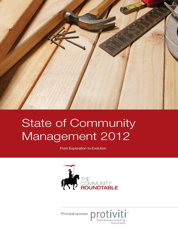 State of CommunityManagement 2012      From Exploration to Evolution      Principal sponsor
