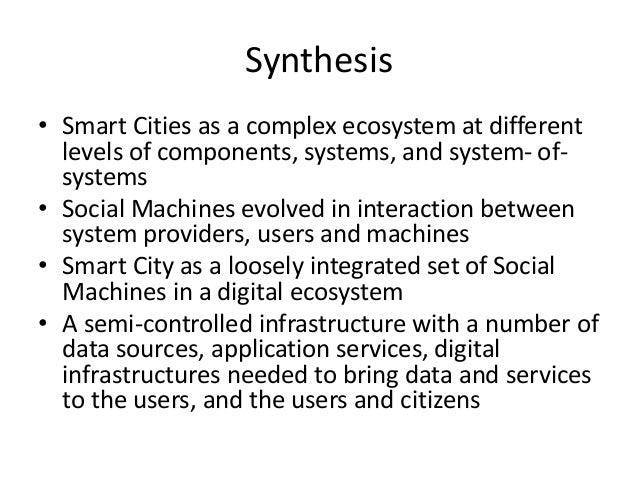 Applications • Transformation to Smart Cities adds complexity • Bridge computer science and urban planning/architecture ap...