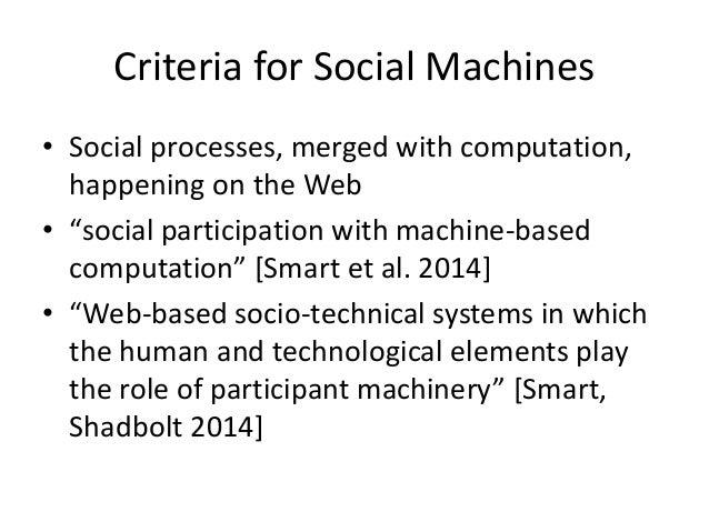 (1) Social Processes • Cities as socio-technical organisms • Society arises from social processes • Cities are crystallisa...