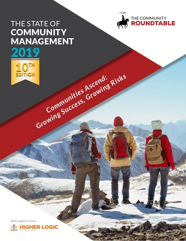 With support from: Communities Ascend: Growing Success, Growing Risks The STaTe of Community management 2019