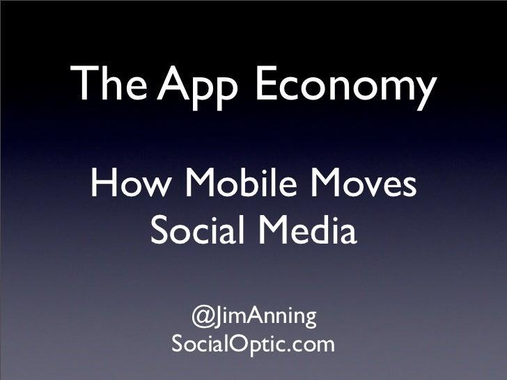 The App EconomyHow Mobile Moves  Social Media      @JimAnning    SocialOptic.com
