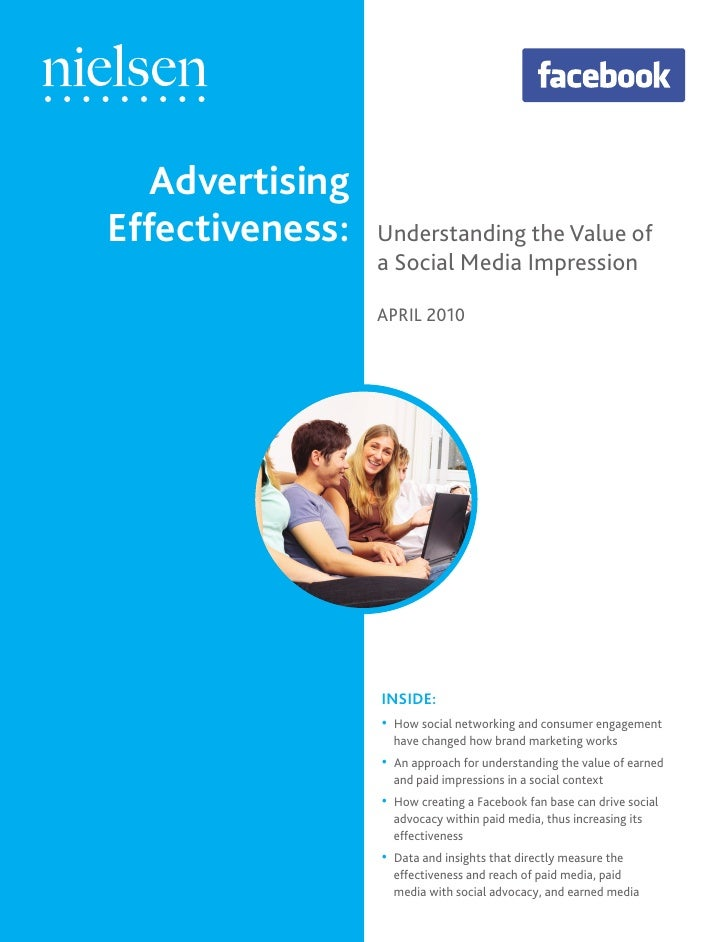 Advertising Effectiveness:   Understanding the Value of                  a Social Media Impression                   APRIL...