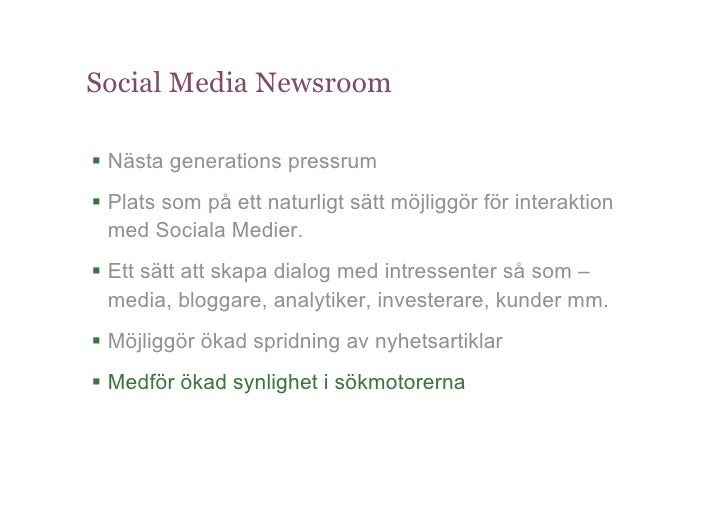 Social Business Conference - Sociala Medier & Corporate Communication