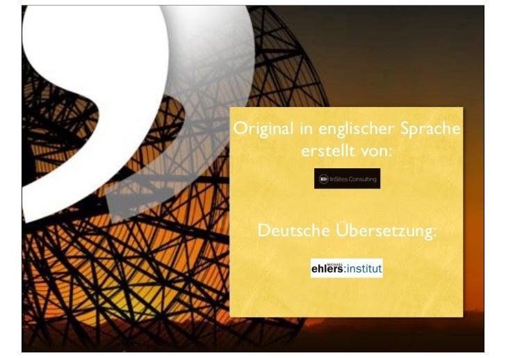 Original in englischer Sprache         erstellt von:   Deutsche Übersetzung: