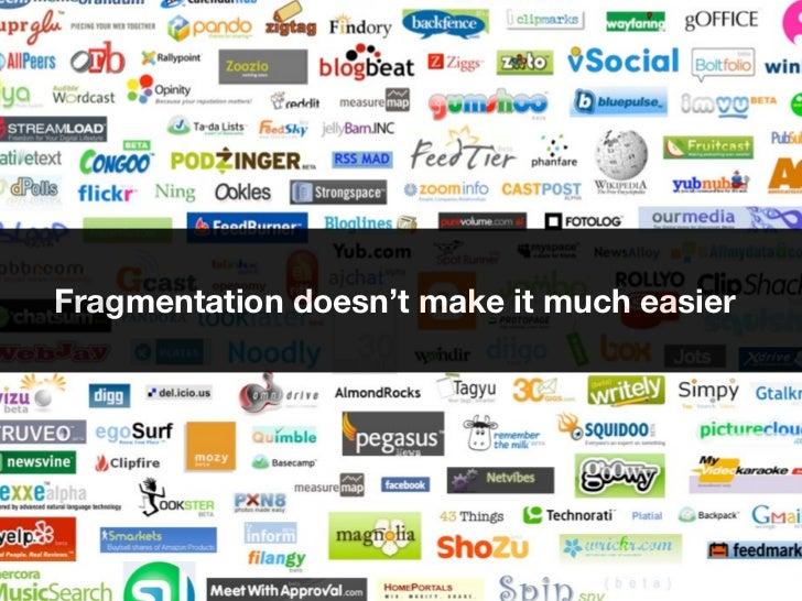 Fragmentation doesn't make it much easier