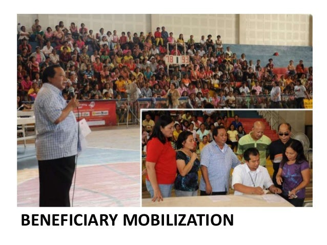 Pantawid Pamilyang Pilipino Program (4Ps) Patterned after the conditional cash transfer scheme implemented in other develo...
