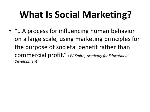 Social Marketing Concepts POSITIONING defines the fit between the social product and what target acceptors want/need in or...