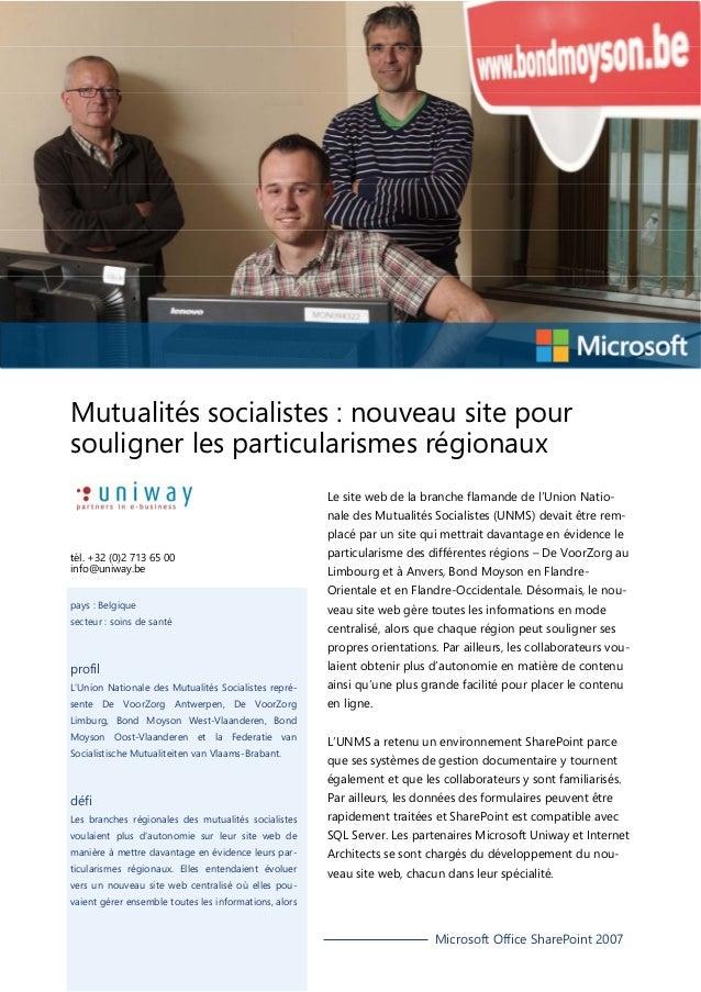 Mutualités socialistes : nouveau site pour souligner les particularismes régionaux Le site web de la branche flamande de l...