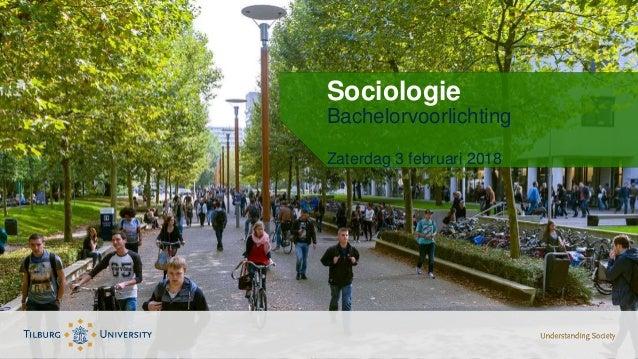 Sociologie Bachelorvoorlichting Zaterdag 3 februari 2018