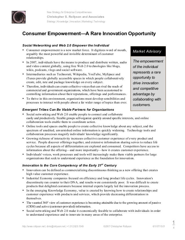 New Strategy for Enterprise Competitiveness Christopher S. Rollyson and Associates Strategy | Knowledge | Innovation | Mar...