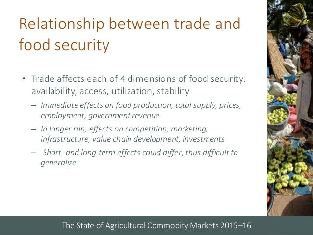 organized marketing of agricultural commodities in Value chains of agricultural commodities and their role in food security and poverty alleviation processing, trading, marketing and retailing is being observed in all the segments of supply chains the a synthesis of these papers has been organized under the following sections: (i.