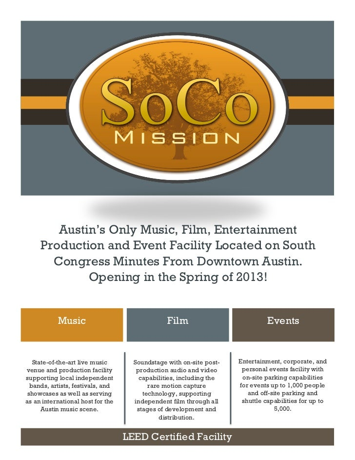 Austin's Only Music, Film, Entertainment     Production and Event Facility Located on South       Congress Minutes From Do...