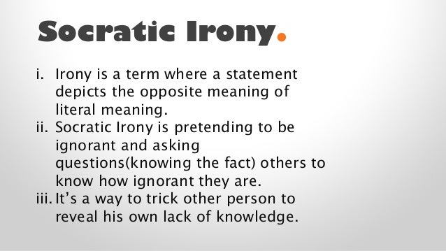 socratic irony