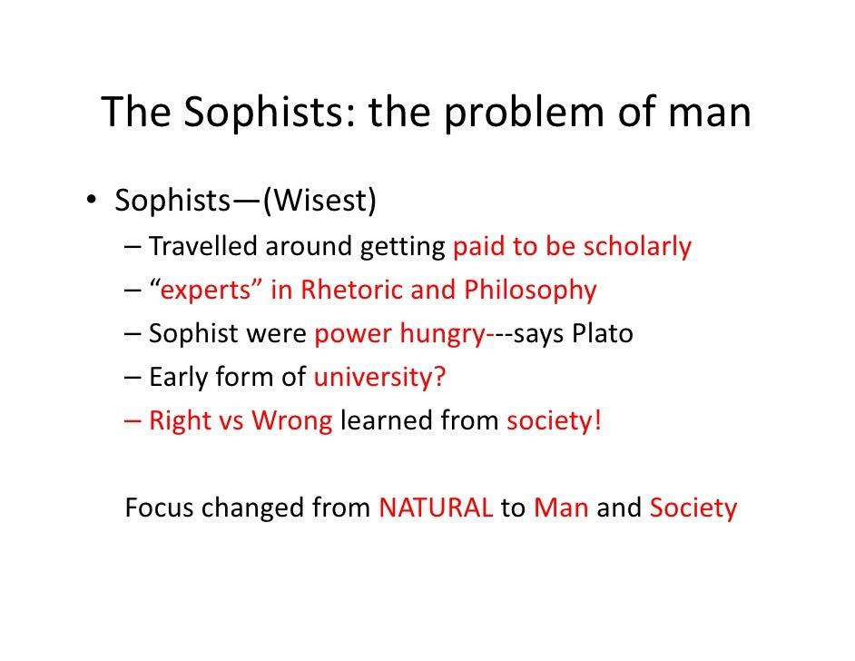 Socrates vs Sophists