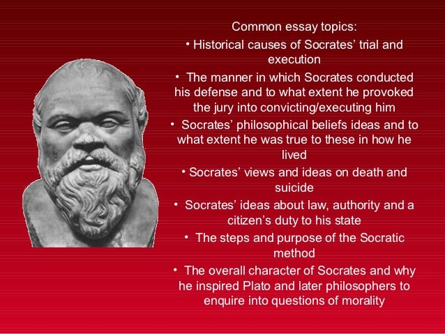 socrates beliefs essay Essays, term papers, book reports, research papers on philosophy free papers and essays on socrates  we provide free model essays on philosophy, socrates reports, and term paper samples related to socrates .