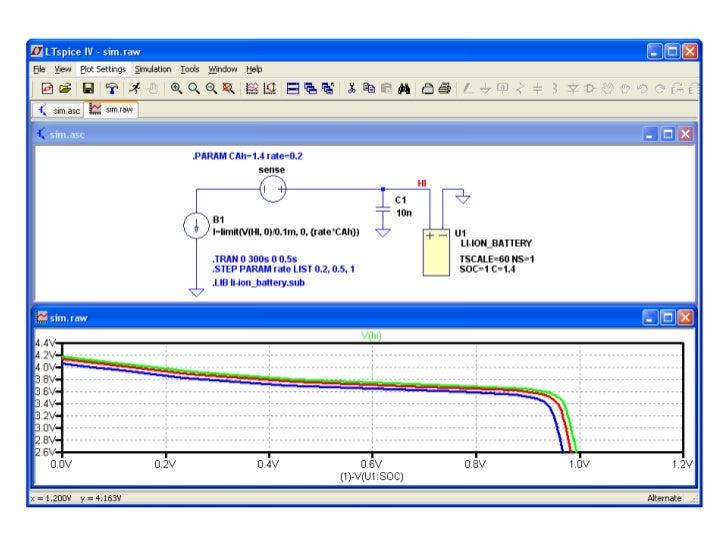 LTspiceによるリチウムイオン電池シミュレーション、SOC(バッテリー容量)とバッテリー電圧の関係