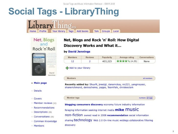 the informational value of social tagging The informational value of social tagging networks social tagging is a new way to share and categorize online content that enables users to express their thoughts.