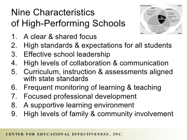 characteristics of a perfect high school So in the end, it looks like good performing educational systems should find a   compared to the comprehensive high schools (until 18) in the united states.