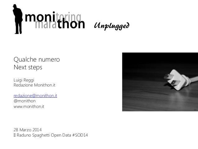 Luigi Reggi Redazione Monithon.it  redazione@monithon.it @monithon www.monithon.it  28 Marzo 2014 II Raduno Spaghetti Open...