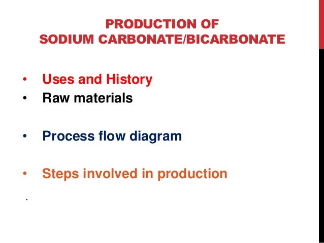 2  production of sodium carbonate/bicarbonate • uses and history • raw  materials • process flow diagram