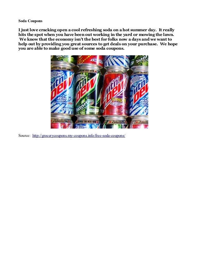 Soda Coupons