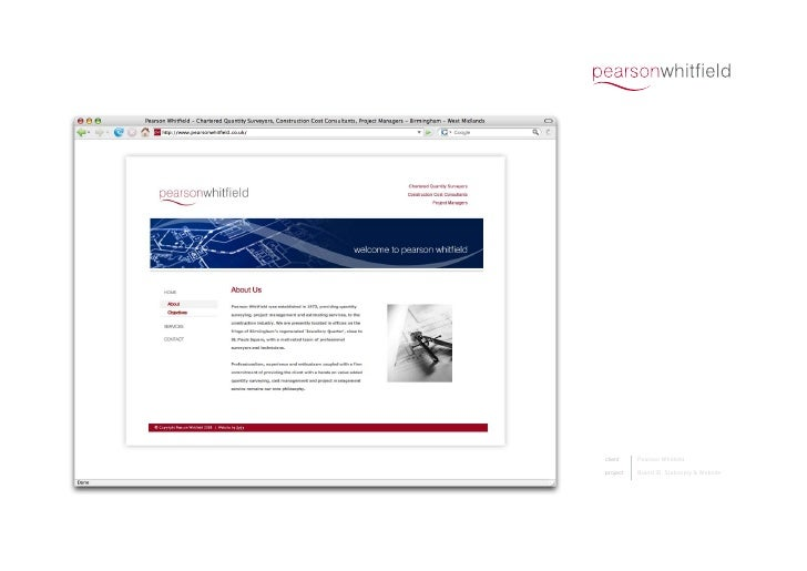 client    PearsonWhitfield  project   BrandID,Stationery&Website