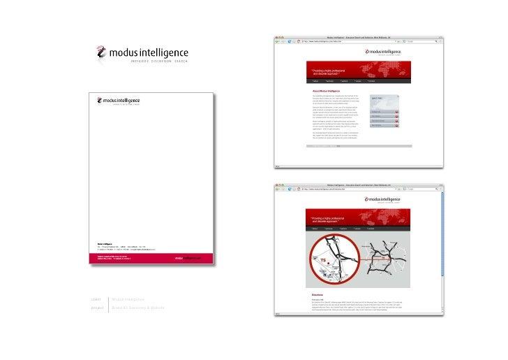 client    ModusIntelligence  project   BrandID,Stationery&Website