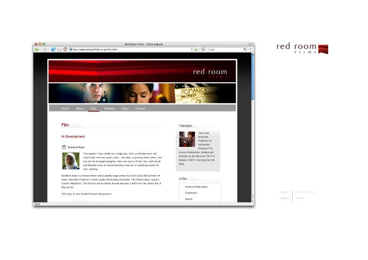 client    RedRoomFilms  project   Website