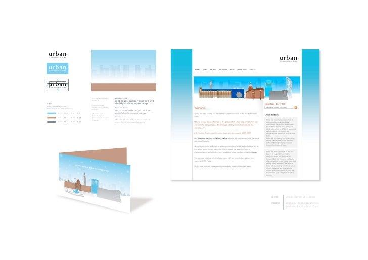 client    UrbanCommunications  project   BrandID,BrandGuidelines,           Website&ChristmasCard
