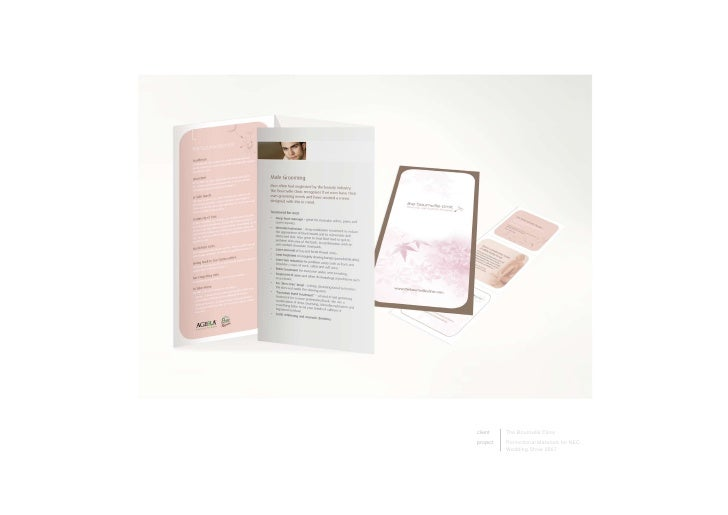 client    TheBournvilleClinic project   PromotionalMaterialsforNEC           WeddingShow2007