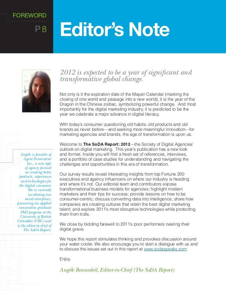 school magazine editorial page sample