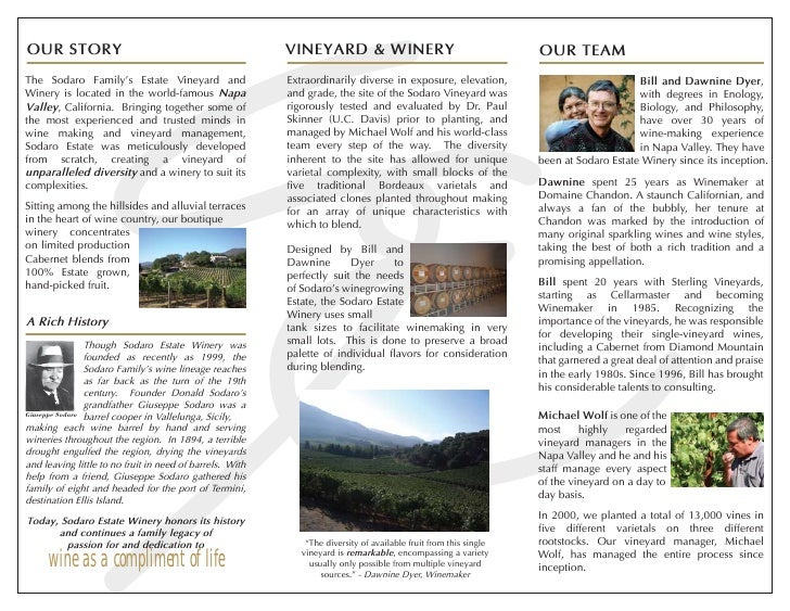 VINEYARD & WINERY OUR STORY                                                                                               ...