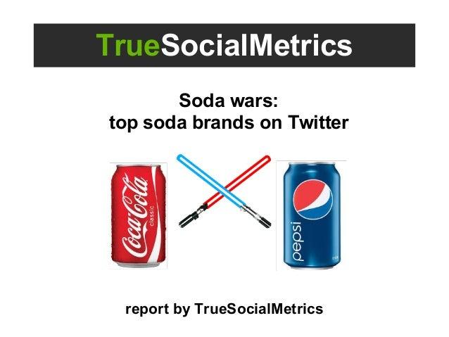 TrueSocialMetrics Soda wars: top soda brands on Twitter report by TrueSocialMetrics