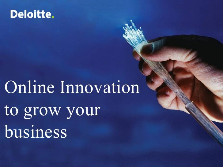 Online Innovation to grow your business