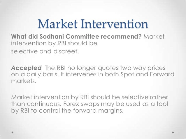 Forex swaps by rbi