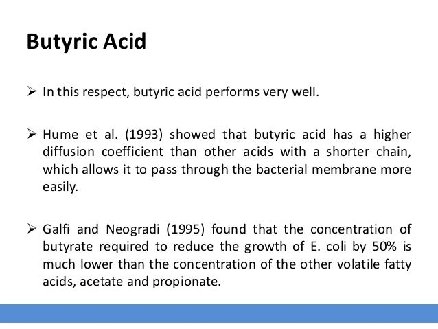 Butyric Acid Coccidia  Leeson et al. (2005) also observed that birds receiving butyric acid before coccidial oocyte chall...