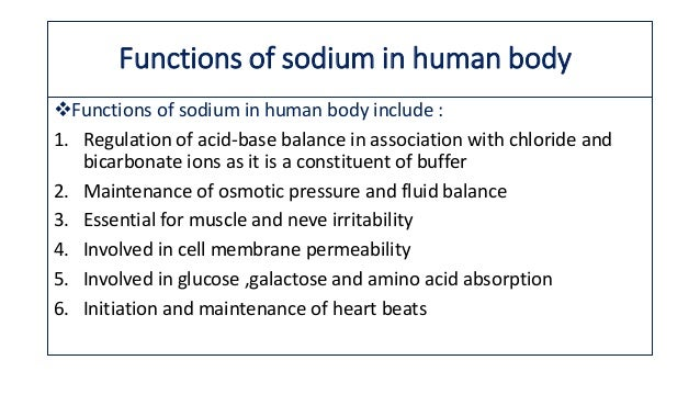 Sodium metabolism and its clinical applications