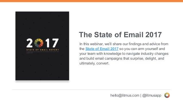 Webinar: State of Email 2017 Slide 3