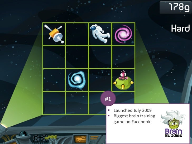 #1   § Launched July 2009   § Biggest brain training       game on Facebook