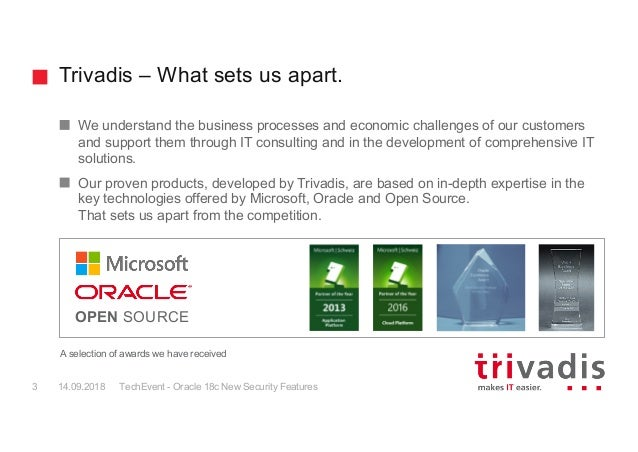 TechEvent Oracle 18c New Security Features