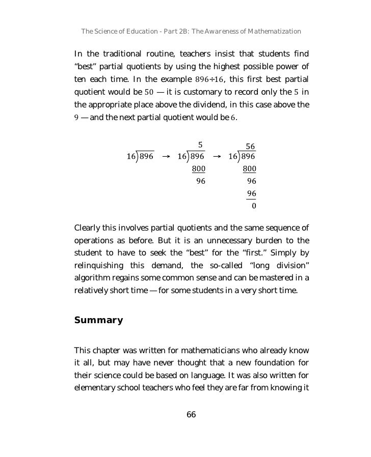The Science of Education Part 2B: The Awareness of Mathematization by…