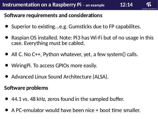 Flightcase to borrow Instrumentation on a Raspberry Pi – an example 13:14