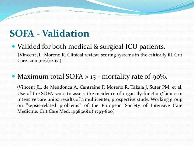 Sequential Organ Failure Assessment Sofa Score