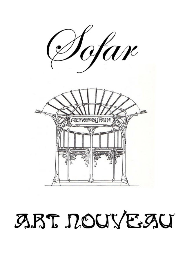 Sofar   catalogue art nouveau 2013