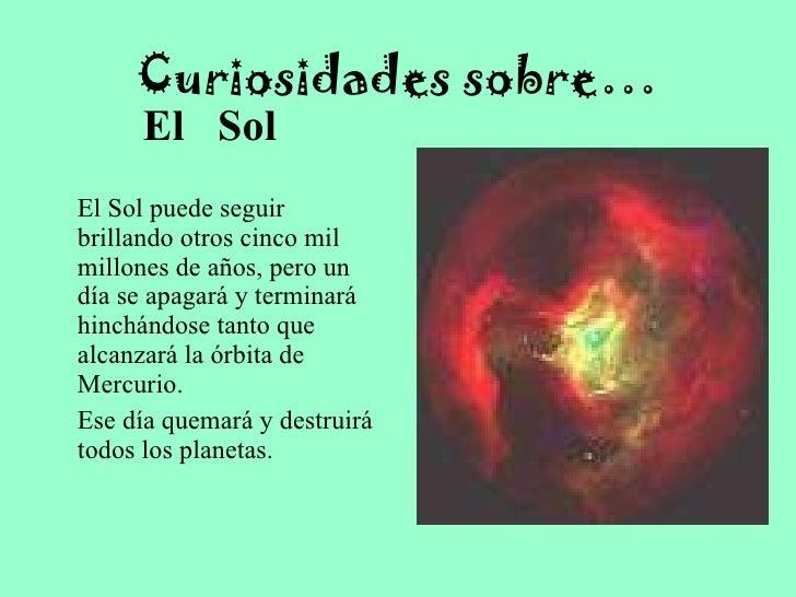 la tierra y el universo experimentos y curiosidades On sobre el sol