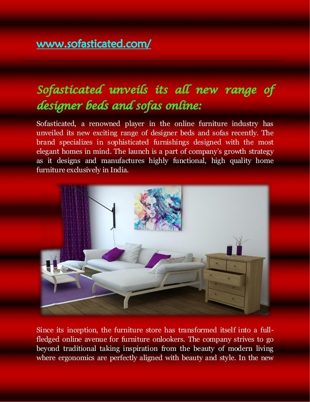 Buy Furniture Online Gurgaon. Www.sofasticated.com/ Sofasticated Unveils  Its All New Range Of Designer Beds And ...