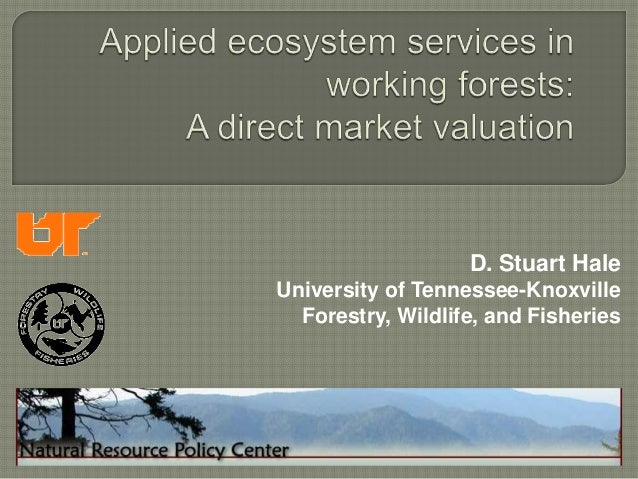 D. Stuart HaleUniversity of Tennessee-Knoxville  Forestry, Wildlife, and Fisheries