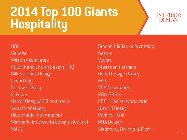 2014 Top 100 Giants Hospitality