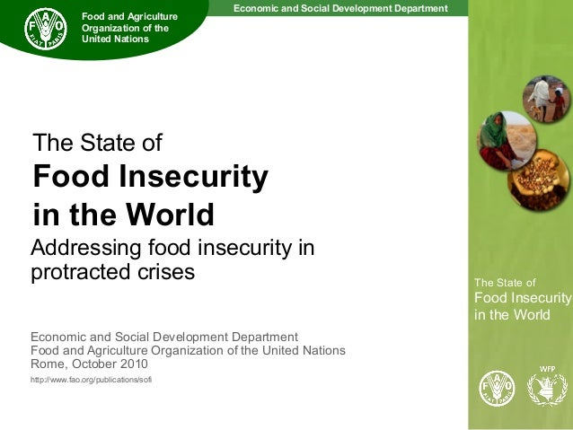 State Of Food Insecurity In The World  Fao