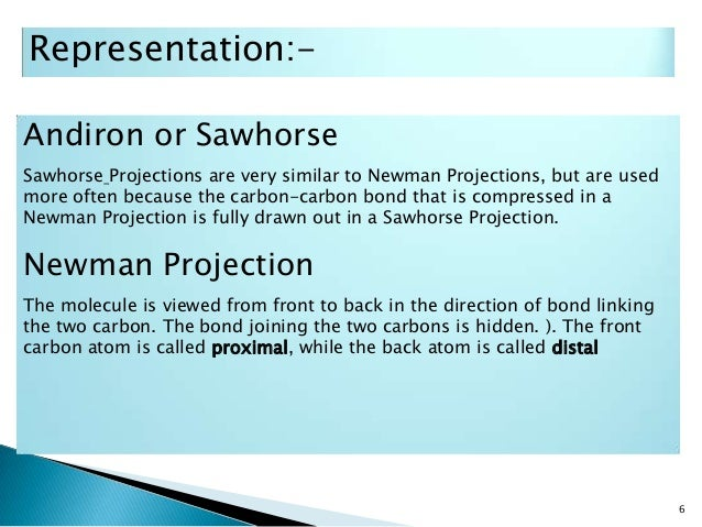 sawhorse projection Newman'projection'practice' 2' c for each of the following, use the words torsional and/or steric to explain why the first conformation is more stable than.